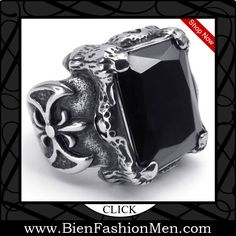Mens Bold Rings | Mens Bold Ring | Mens Rings | Bold Rings | Mens Jewelery | Jewelry on Men | Jewelery for Men | Men Jewellry | Male Jewellery | Chunky Rings | Affordable Rings | Shop Now ♦ KONOV Jewelry Vintage Stainless Steel Gothic Dragon Claw Tribal Biker Men's Ring, Color Black Silver  $13.99