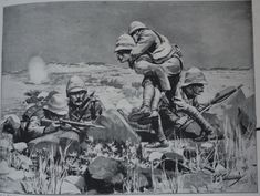 Men of the King's Own Yorkshire Light Infantry on the extreme right of the British line during the Battle of Magersfontein on December 1899 by JJ Waugh British Soldier, British Army, Royal Horse Artillery, Non Commissioned Officer, Crimean War, Major General, Album, Military Art, Troops