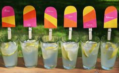 Popsicle Drink Tags