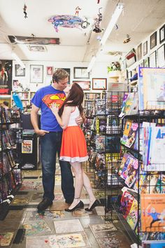 Photo Credit: Rachel McCauley Photography Love.Love.Love. This idea. There is an amazing place in Langley (in BC) that would be perfect for this, and a cute little comic shop in Seattle that would be, too.