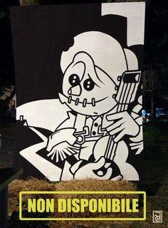 Lo spaventapasseri, 2013 the Scarecrow  Acrilico su legno / Acrylic on wood 120 X 100 cm  NON DISPONIBILE / NOT AVAILABLE