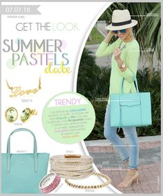 Fashion Topic Get The Look  Summer Pastels  Date  www.elgaleon.com.mx
