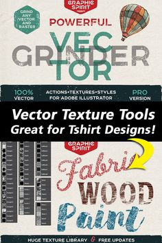Great for applying distress effects on T-Shirt Designs!  POWERFUL Vector GRINDER — new user-friendly tool to apply to vector and raster images texture opacity mask.  Why vector grinder should have every designer:  Simple operation using masks with action It works with both vector and raster objects...and more! #vector #vectorefects #tshirtdesigns #distress #illustrator #actions #designtools #ads T Shirt Design Template, Funny Tshirts, Illustrator, Masks, Shirt Designs, Objects, How To Apply, Action, Texture