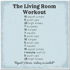 Working out at home? Try this great workout! Tip: You can break up the exercises and do them during the commercial breaks of your favorite show. Rest as needed. www.blackweightlosssuccess.com