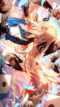 ✒✉_Violet Evergarden _✉✒ - New Sites Anime Demon, Anime Wolf, Anime Chibi, Anime Art, Violet Evergarden Wallpaper, Violet Evergreen, Violet Evergarden Anime, Anime Poses, Beautiful Anime Girl