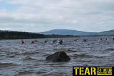 The Blessington Lakes are always a great challenge for the kayaking stage of the TEAR Race 2013