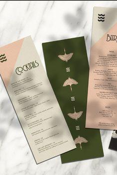 Menu Restaurant, Restaurant Design, Menu Bar, Drink Menu Design, Menu Card Design, Collateral Design, Branding Design, Building Information Modeling, Font Design