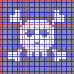 http://shala.addr.com/livejournal/skull.gif FREE skull graph for tapestry crochet or granny square. Just in time for Halloween!