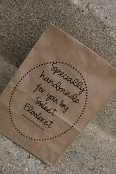 Sweet Floweret: Printable Lunch Bags! Tutorial