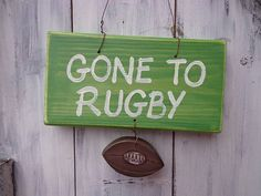 rugby sign by giddy kipper | notonthehighstreet.com