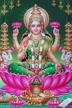 Lakshmi is the Hindu god of wealth, fortune & prosperity and also the wife of Lord Vishnu. Here is a collection of Goddess Lakshmi Images & HD wallpapers. Lord Shiva Hd Images, Durga Images, Lakshmi Images, All God Images, Lakshmi Photos, Saraswati Goddess, Lord Shiva Family, Lord Vishnu Wallpapers, Indian Goddess