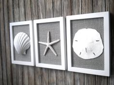Cottage Chic Set of Beach Wall Art Nautical by OMearasCottageCharm