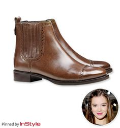 """Fall's Best Boots — Hailee Steinfeld: """"I'm really into short ankle boots. I just got a pair from Tory Burch that I totally love."""""""