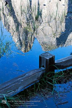 Cathedral Rock Reflected in a Flooded Meadow - Yosemite National Park, CA.  Photo: jimgoldstein, via Flickr