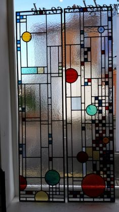 art deco stained glass-A226