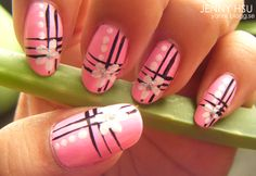Pink nails #nail #design #manicure