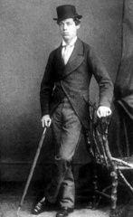 Lord Randolph Churchill (1849-1895), durante su época de estudiante del célebre Merton College de la Universidad de Oxford a finales de la década de 1860. (Public Domain) #miercolesretratos #EnciclopediaLibre