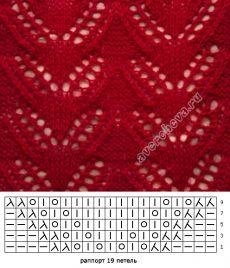 узор 238 | каталог вязаных спицами узоров