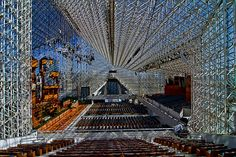 Crystal Cathedral in California, so very cool in there, especially during the Christmas mass.