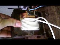 Maquina de soldagem com um transformador de microondas