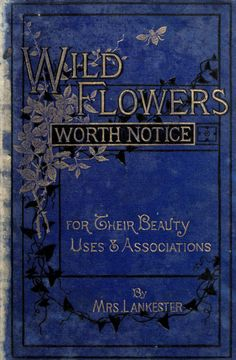 """heaveninawildflower: """" Book cover for 'Wild Flowers Worth Notice' by Mrs Lankester; with 108 coloured figures from drawings by J.E. Sowerby. Published 1879 by David Bogue  archive.org  """""""