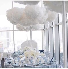 Clouds centerpiece for dreams theme