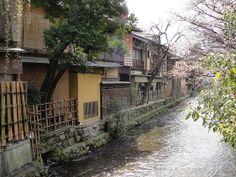 Old Gion waterside houses by RachelH_, via Flickr