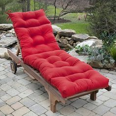 Solid Outdoor Chaise Lounge Chair Cushion #JoysOfSummer