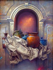 by Edward Szutter (artist) Still Life Drawing, Still Life Art, Colour Pencil Shading, Pakistan Art, Academic Art, Arabic Art, Islamic Art Calligraphy, Realism Art, Mural Art