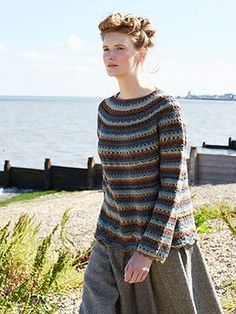 CAITLIN from Winter Crochet by Marie Wallin - A timeless collection of 8 designs for women which shows how the traditional craft of crochet can be used to great effect in contemporary garment design. Some of the designs combine knitting and crochet together, making the collection more wearable and of course, fashionable. | English Yarns