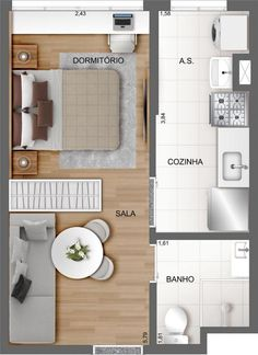 Small Apartment Plans, Small Apartment Layout, Studio Apartment Floor Plans, Studio Apartment Layout, My House Plans, Small House Plans, House Floor Plans, Hotel Room Design, Interior Design Living Room
