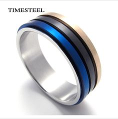 Maybe - Titanium 316L Stainless Steel Ring Rotatable 3 Color Circle Fashion Men's Jewelry Free Shipping