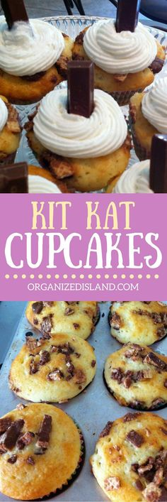 These Kit Kat Cupcakes are so easy to make and make a wonderful surprise dessert!