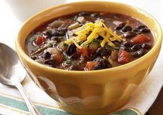 Our Slow Cooker Black Bean Chili is a delicious vegetarian recipe packed with fiber!