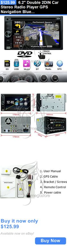 Vehicle Electronics And GPS: 6.2 Double 2Din Car Stereo Radio Player Gps Navigation Bluetooth Fm Dvd Usb Sd BUY IT NOW ONLY: $125.99