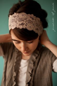Katherines Heirloom Lace in Antique Beige  by GarlandsOfGrace, $22.00
