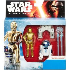 """Star Wars The Force Awakens Snow Mission R2-D2 and C-3PO 2-Pack Figures 3.75""""  #StarWars"""