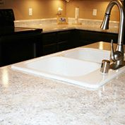Look alike granite counters (with paint). Color: White Diamond