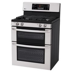 exciting cook stoves at lowes. Shop LG 30 in Self Cleaning Double Oven Gas Range  Stainless Steel Maytag Gemini 6 7 cu ft Electric with