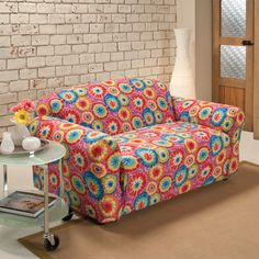 Madison Industries Tie Dye Jersey Loveseat Cover 47 99 Colorful Couch