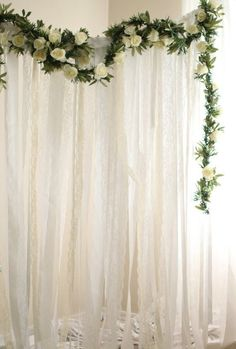 Practical fine-tuned Affordable wedding flowers Get More Info Here Bridal Shower Backdrop, Bridal Shower Photos, Wedding Ceremony Backdrop, Wedding Backdrops, Church Wedding Flowers, Church Wedding Decorations, Wedding Centerpieces, Wedding Bouquet, White Garland