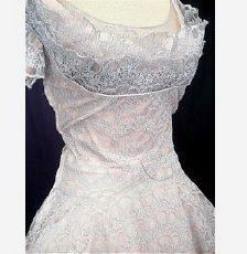 50's vintage wedding dress  @RA                             , wonder what the rest looks like. I like the top.