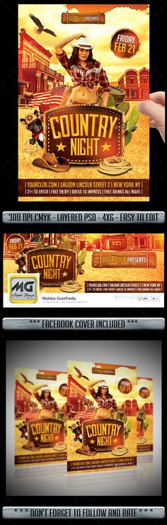 Country Flyer - Clubs & Parties Events