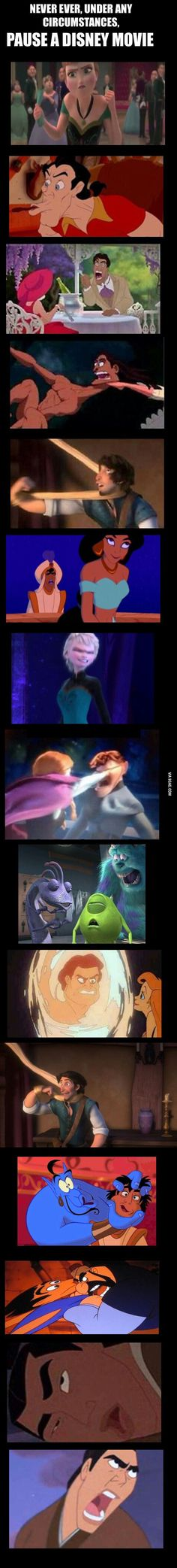 Funny pictures about Pausing A Disney Movie At The Wrong Time. Oh, and cool pics about Pausing A Disney Movie At The Wrong Time. Also, Pausing A Disney Movie At The Wrong Time photos. Disney Pixar, Walt Disney, Disney E Dreamworks, Disney Amor, Disney Jokes, Funny Disney Memes, Disney Films, Disney Fun, Disney Magic