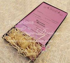 Wedding invitation in a box for a vineyard wedding #wedding #vineyard