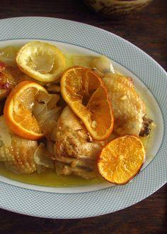 Frango no forno com laranja e limão   Food From Portugal