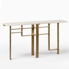 Tivoli Console by Chai Ming Studios Condo Furniture, Design Furniture, Metal Furniture, Table Furniture, Table Shelves, Display Shelves, Drawer Design, Coffee Table Design, Cuisines Design
