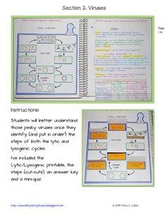 LIFE SCIENCE INTERACTIVE NOTEBOOK - THE MICROBIAL WORLD - TeachersPayTeachers.com