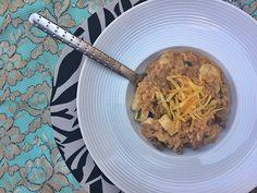 Receita de risoto de carne com palmito e batata palha