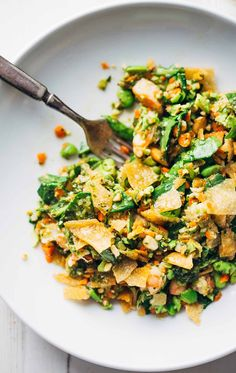 Chopped Thai Shrimp Salad with a homemade garlic lime herb dressing.